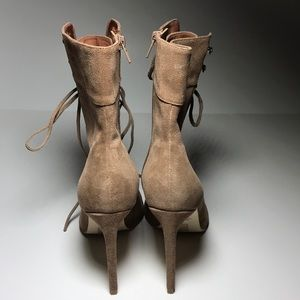 Jeffrey Campbell Shoes - Jeffrey Campbell Suede Stiletto lace up booties 10